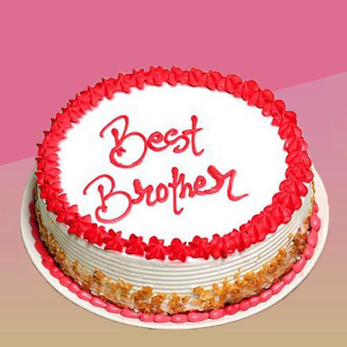 Bhai Dooj Best Brother Cake