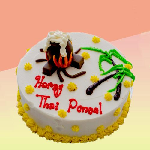 CHOCOLATE WHITE THAI PONGAL SUGARCANE TREE CAKE