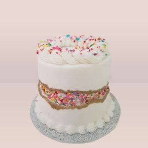 Creamy Fault Line Cake
