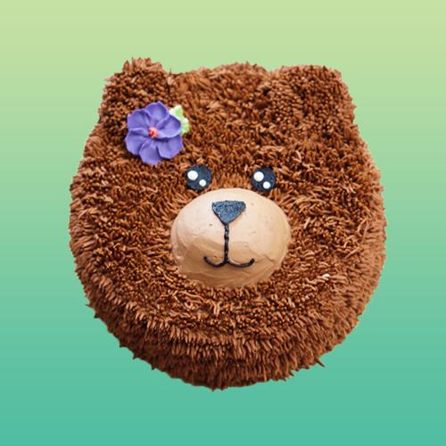 Cute Teddy Bear Fondant Cake
