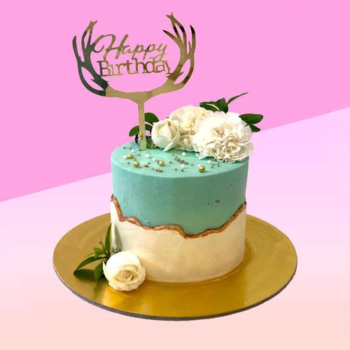Fault Line Floral Cake