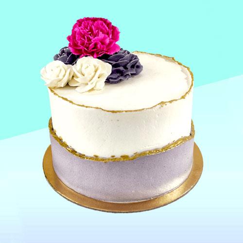Floral Faultline Cake