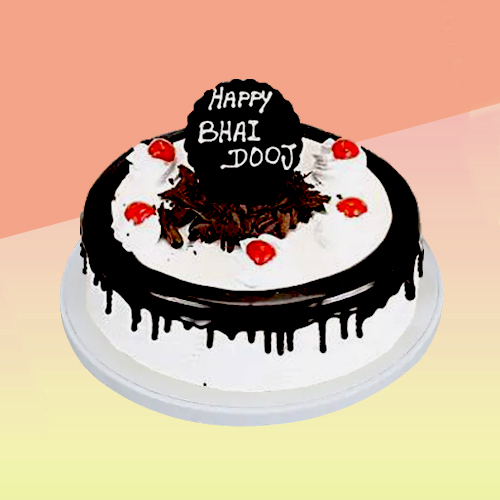 Happy Bhai Dooj Black Forest Cake