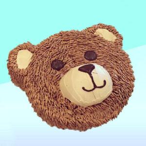 Mr Bear Face Cake