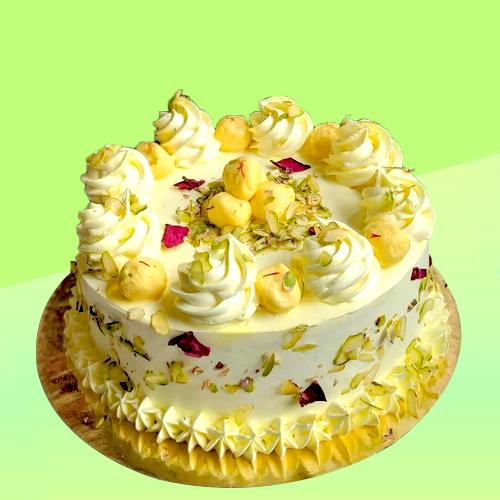 Rasmalai vanilla sponge cake