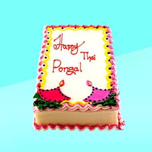divine happy thai pongal ribbon cake