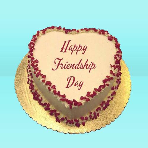 Friendship day Heart Shape Butter Scotch Cake