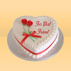 Heart shape cake for friend