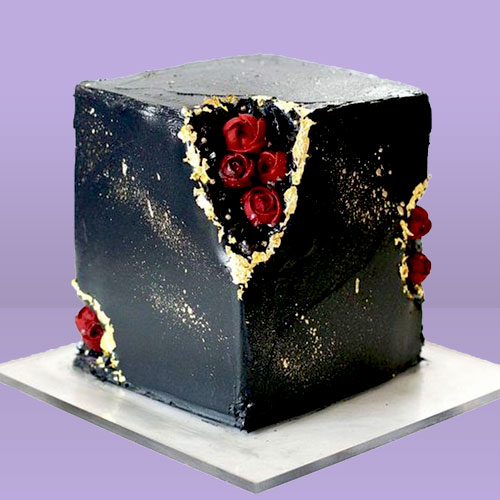 Marble Effect Chocolate Cake