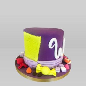 Willy Wonka Vanilla Painting Cake
